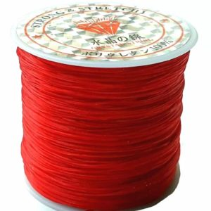Crystal String red - Steinschleuder Pouch Anbindeschnur rot
