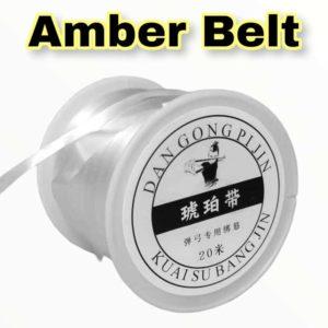 Amber Belt Transparent 20m Rolle Steinschleuder Gummi selber machen