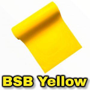 BSB yellow Burning Skull Band Slingshot Latex