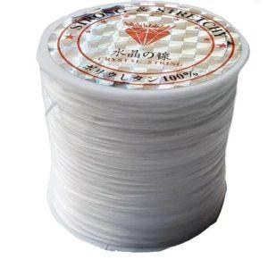 Crystal String white - Steinschleuder Pouch Anbindeschnur weiß