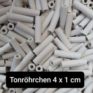 Tonröhrchen 4x1 cm