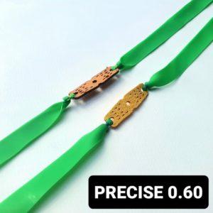 Bandset Precise 0.60 grün Ersatzgummi für Zwille und Steinschleuder