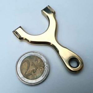 UniPhoxx Mini Messing Schlüsselanhänger Steinschleuder