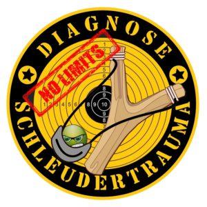Diagnose Schleudertrauma Outdoor Aufkleber 9,5cm