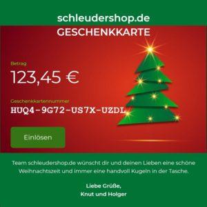 Geschenkkarte Weihnachten 2021 Beispielbild
