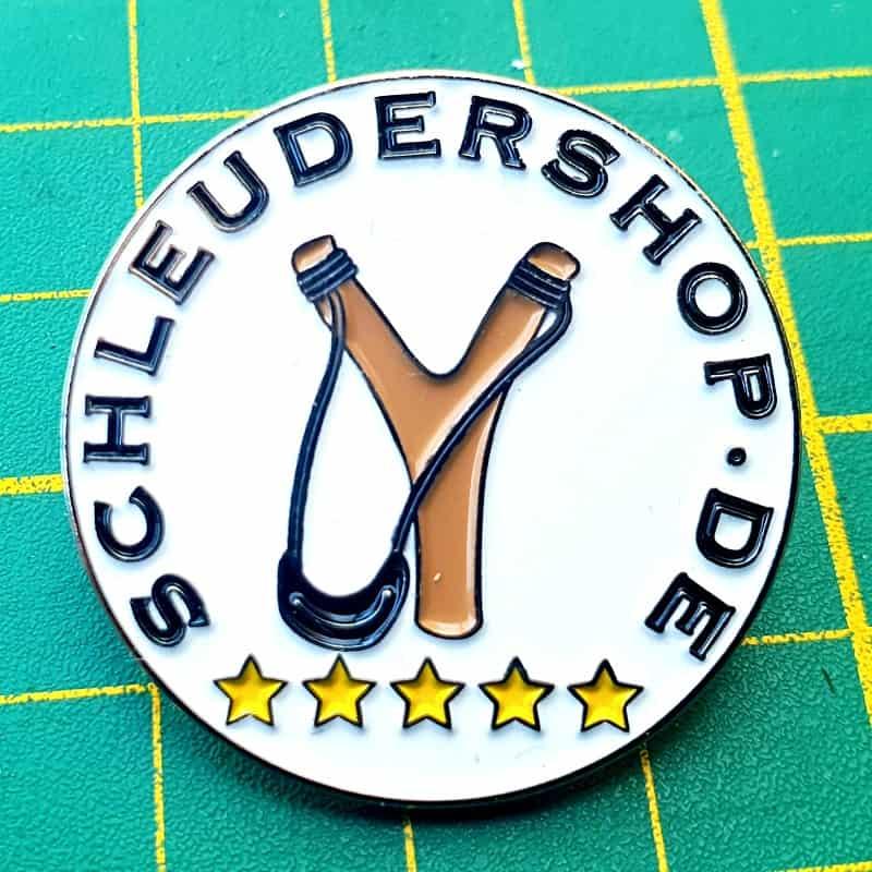 Metall Pin 30mm schleudershop Logo