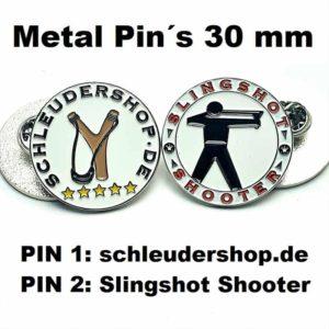 Metall Pins 30mm Übersicht