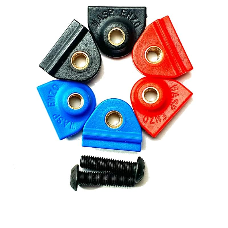 WASP ENZO Clips Black Red Blue