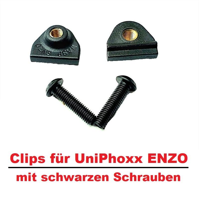 WASP ENZO Clips und Schrauben Black