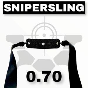Snipersing black 0.70 Steinschleuder Ersatzgummi extra stark