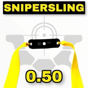 Snipersing yellow 0.50 Schleuder Bandset mit Pouch
