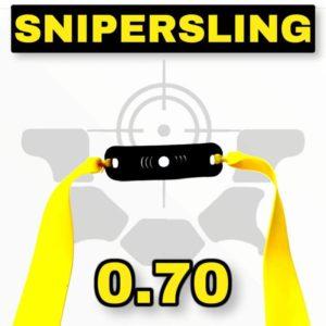 Snipersing yellow 0.70 Steinschleuder Bandset mit Pouch