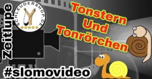 Zwillen Video Tonstern und Tonröhrchen Zeitlupe SloMo