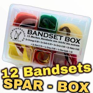 Bandset Box 12 Bandsets komplett leicht bis extrem
