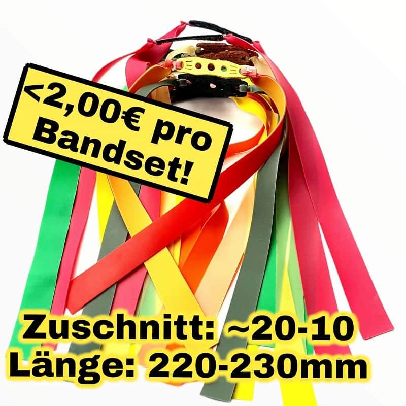 Bandset Box 12 x Steinschleuder Ersatzgummis