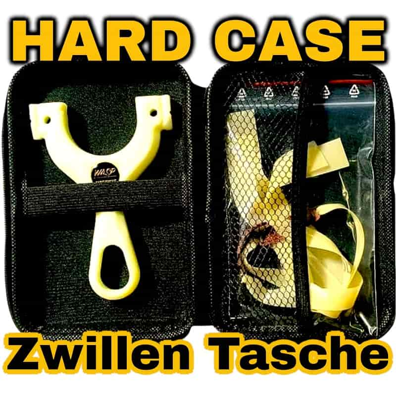 Slingshot Hardcase Zwillen Schutz Tasche schwarz Beispielbild mit ENZO GITD-min