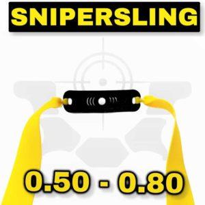 Snipersing yellow fertige Steinschleuder Bandsets mit Pouch Ersatzgummi Zwille
