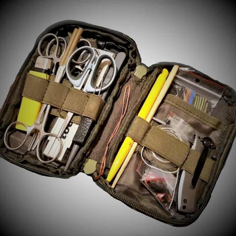 Zubehörtasche Tactical Klett und Reißverschluss Beispielöbild