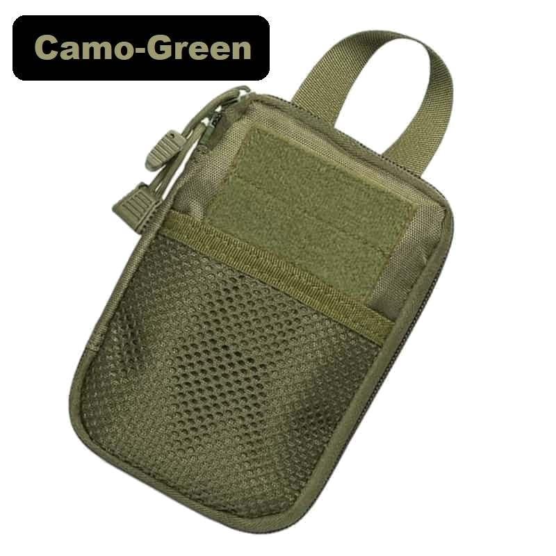 Zubehörtasche Tactical Klett und Reißverschluss camo-green