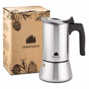 Groenenberg Espressokocher Edelstahl aluminiumfrei