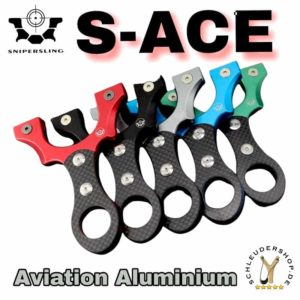 Snipersling S-ACE Aviation Aluminum Carbon Slingshot Sportschleuder