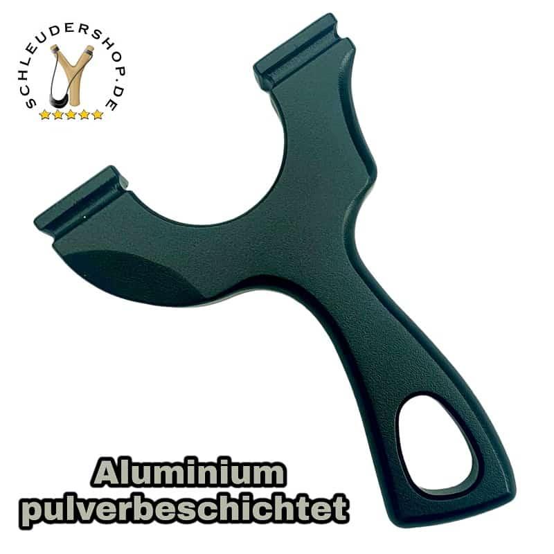 Venator Aluminium Black schwarz pulverbeschichtet Steinschleuder WASP Slingshot OTT Rückseite