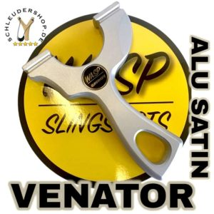 Venator Aluminium Satin Steinschleuder WASP Slingshot OTT