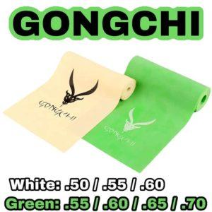 Gongchi Sligshot Latex white and green Steinschleuder Gummi selber machen